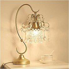 GIOAMH Lampe de Table en Cristal Transparent Salon