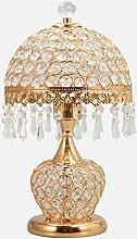 GIOAMH Lampe de table en verre cristal, lampe de