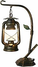 GIOAMH Lampe de table lanterne rustique salon