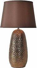 GIOAMH Lampe de Table rustique martelée