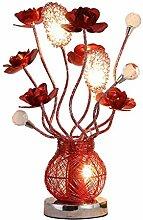 GIOAMH Rose Rose Lampe De Table Fête De Mariage