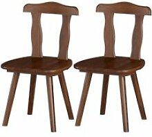 Girada - lot de 2 chaises chocolat