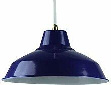 Girard Sudron Abat-jour métal industriel - Bleu