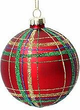 Gisela Graham Boule de Noël en verre 8 cm –
