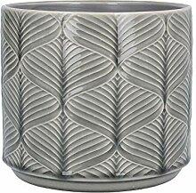 Gisela Graham Cache-pot en céramique gris ondulé