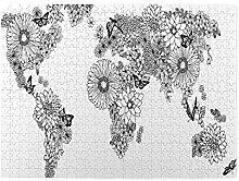 GKGYGZL Puzzles 500 pièces,Carte du Monde de