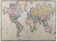 GKGYGZL Puzzles 500 pièces,Carte du Monde