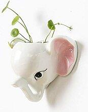 GLBS Creative Cartoon Elephant Blanc Montage Mural
