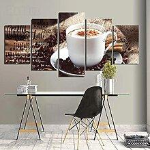 Glfeng Toile Moderne Peinture 5 pièces Premium et
