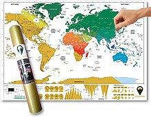 Global Walkabout - Carte du monde à gratter avec