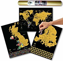 Global Walkabout Carte du Monde, de l'europe