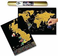 Global Walkabout Carte du monde et du Royaume-Uni