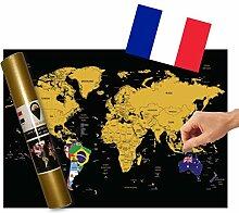 Global Walkabout française–Carte à gratter