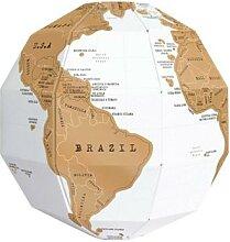 Globe à gratter 3D stéréo, assemblage carte du