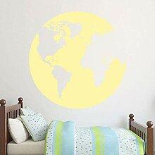 Globe Carte Du Monde Stickers Muraux Silhouette