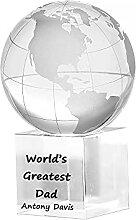 Globe de Cristal personnalisé, récompense de