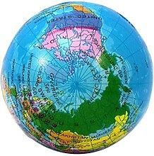 Globe gonflable avec carte du monde et de