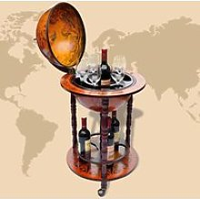 Globe Terrestre Bar Alcool - Secret place - Bois