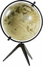 Globe terrestre carte du monde en métal effet