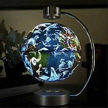 Globe Terrestre Flottant Illuminé avec Base -