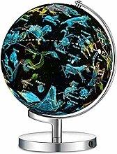 Globe Terrestre Illuminé avec Base en Métal -