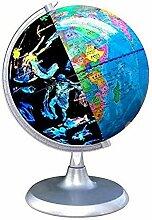 Globe terrestre illuminé avec Base, Globe