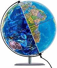 Globe terrestre illuminé de 12,6 Pouces, Globe de