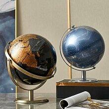 Globe terrestre rétro, carte du monde,