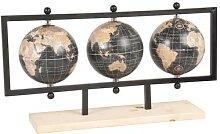 Globes terrestre carte du monde, support en