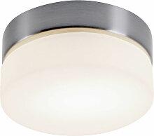 Globo - Lampe de plafond en verre opale de salon