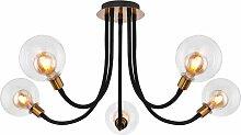 Globo - Plafonnier LED lampe en métal or bras