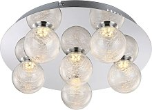 Globo - Plafonnier LED plafonnier boule de verre
