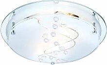 Globo - Plafonnier luminaire plafond verre satiné