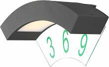 Globo - Spot LED mural gris ALU lampe numéro de