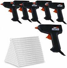 Glue Gun 6 Pistolets colle et lot de Recharges,