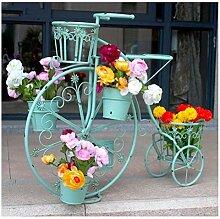 GLVV Fer fenêtre stand de fleurs étagère à