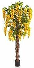 Glycine artificielle en pot, 975 feuilles, 35