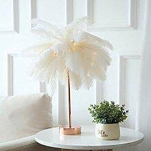 GMLSD Lampes de Table, Plume Moderne Et Créative