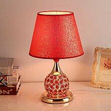 GMLSD Table Lamps,Nordic Crystal Metal Flower