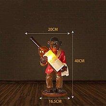 GMLSD Table Lamps,Retro Lamp Resin Bedroom Study