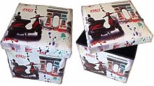 GMMH Tabouret 5019126Paris Arc Box Boîte de