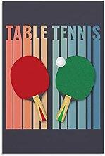 GNKIO Poster sur toile motif table de tennis