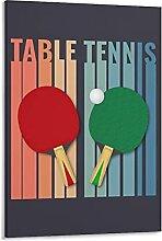 GNKIO Posters Table Tennis Vintage Art - Peinture