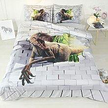 GNNSITT Dessus de lit 2 Personnes Dinosaure Animal