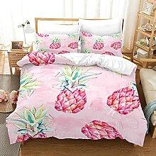 GNNSITT House de Couette Rose Fruit Ananas