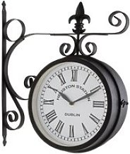 GOBRO Horloge murale style pendule de gare rétro