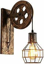 Goeco - Roue Applique Murale Rétro E27 Lampe