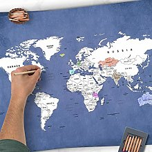 Golden Posters Carte du monde à colorier - Carte