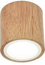 GONGFF Rectangulaire LED Plafonnier Ronde Bois