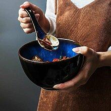 Good Life Bol en Céramique Bleu Cuillère À
